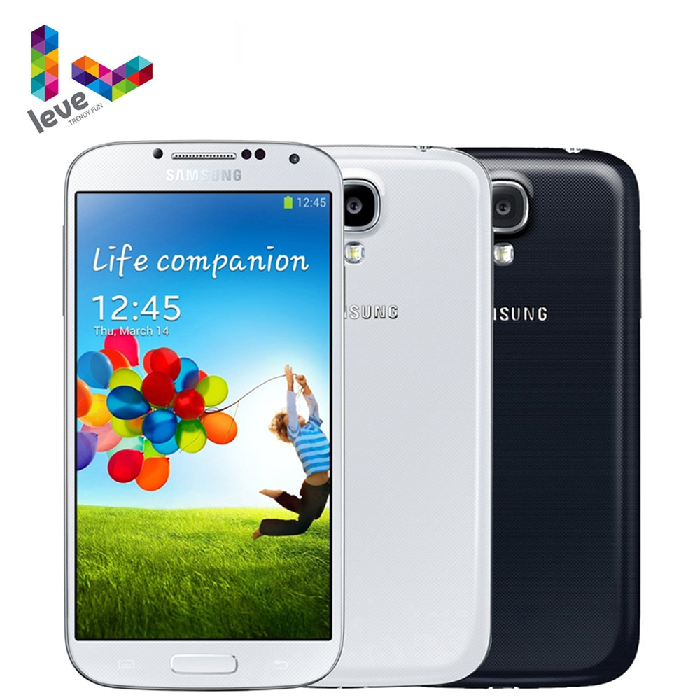 Samsung-هاتف ذكي Galaxy S4 i9500 i9505 ، هاتف خلوي غير مقفل ، شاشة 5.0 بوصة ، ذاكرة وصول عشوائي 2 جيجابايت ، ذاكرة وصول عشوائي 16 جيجابايت ، كاميرا 13 ميجابكسل ،...