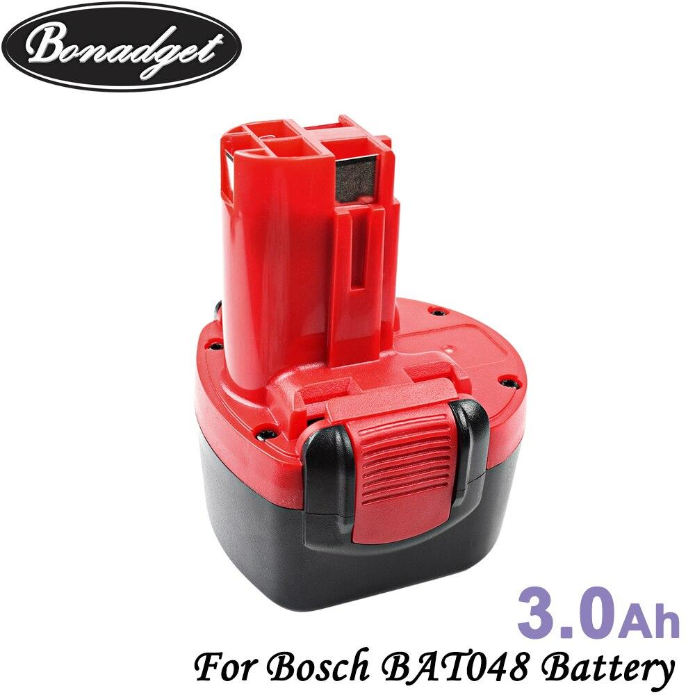 Bonadget 3000mAh 9,6 V Ni-MH BAT048 recargable batería para Bosch PSR 960 BH984 BAT119 BAT100 BAT001 BPT1041 BH974 2607335260