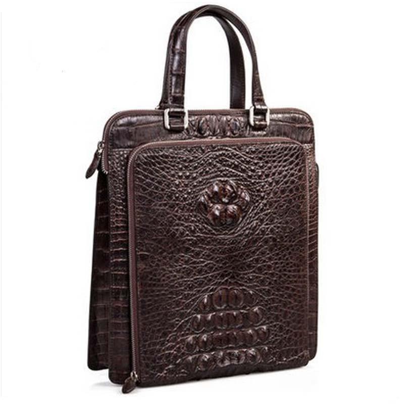 mengzhongmeng new crocodile leather Man bag computer bag men handbag bag fashion business men crocodile bag