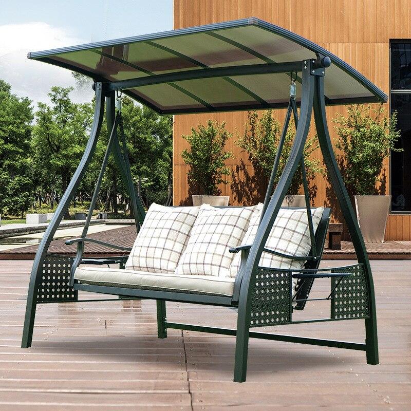سوينغ أثاث خارجي كرسي متأرجح مزدوج شرفة سوينغ كرسي فناء حديقة معلق كرسي سلة يلقي ألومنيوم حديد سوينغ