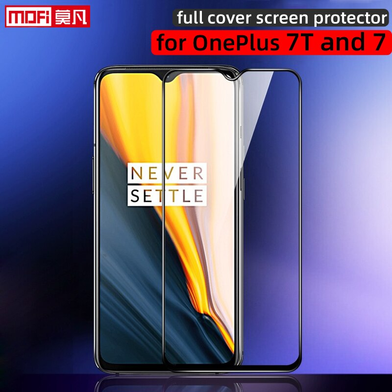 Protector de pantalla para oneplus 7 t oneplus 7 cubierta completa de vidrio templado 2.5D ultra delgado One Plus 7T película de cobertura de borde a borde mofi