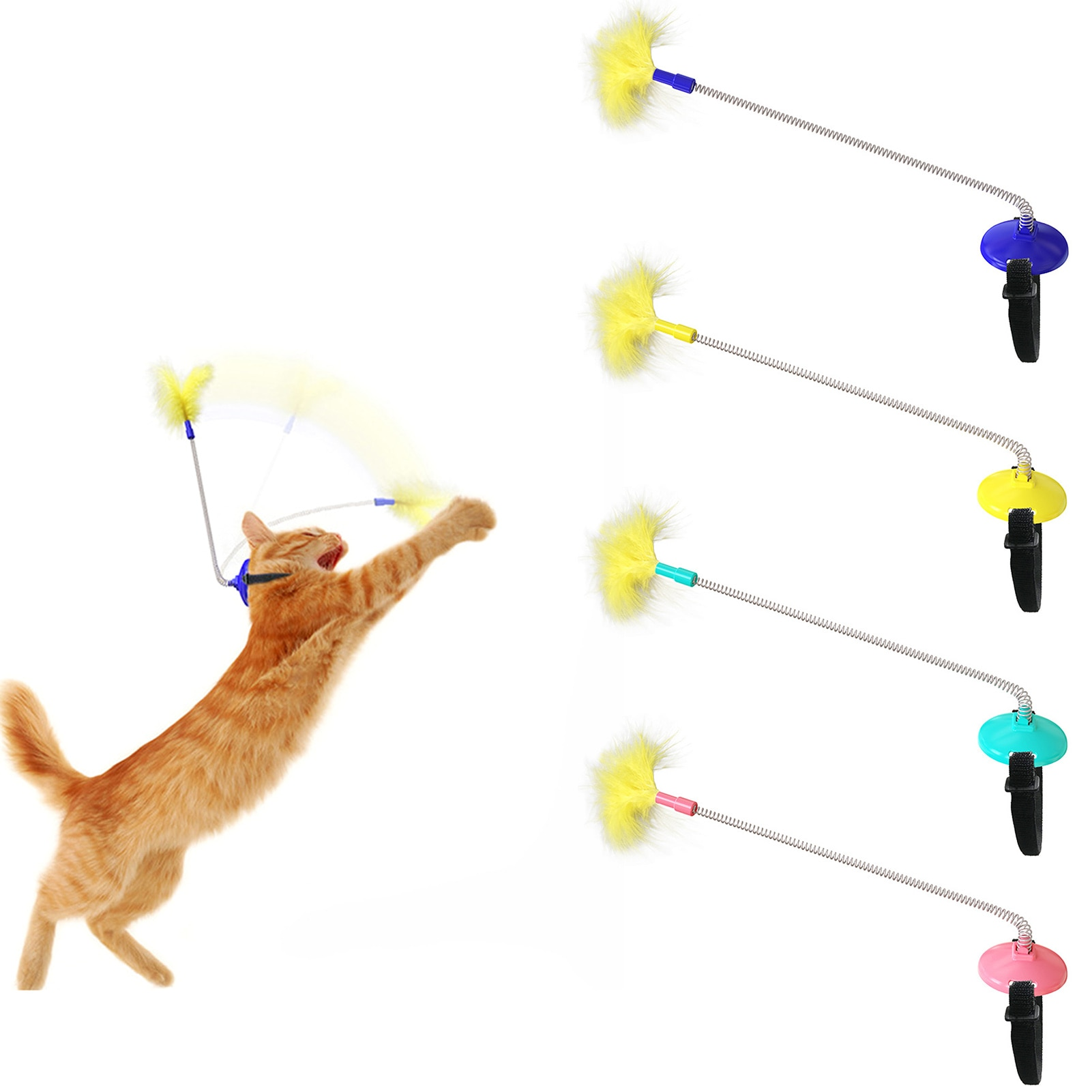 Само-смешно забавная игрушка для кошек на головке перо отказов палка