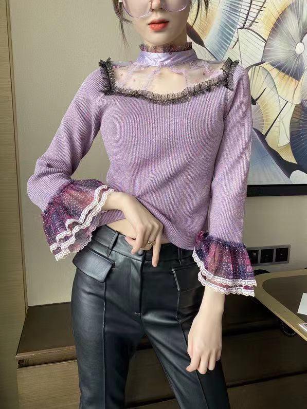 كنزات WZ12162 موضة النساء 2021 المدرج الفاخرة العلامة التجارية الشهيرة الأوروبية تصميم نمط الحفلات ملابس نسائية