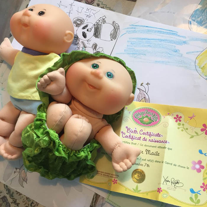 21cm parche de repollo encantador niños baby doll rebota en la espalda colecciona regalos de cumpleaños para niñas