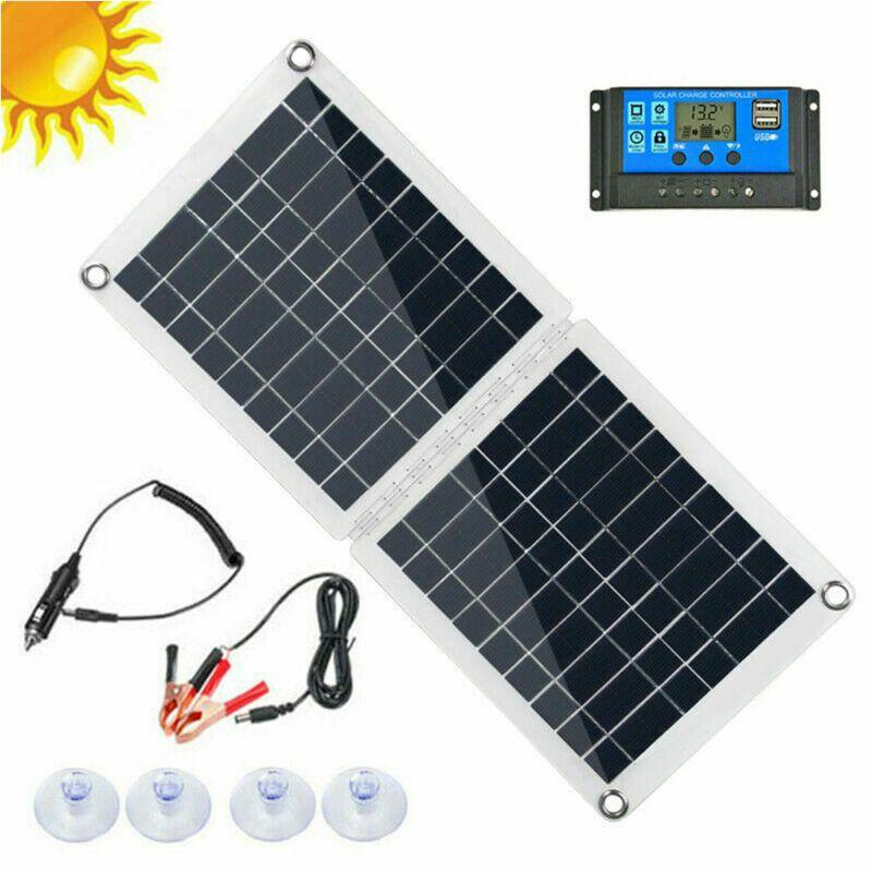 60 Вт Двойной USB складной набор солнечных панелей моно Караван Лодка Кемпинг зарядка