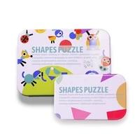 geometric shape puzzle kindergarten intelligence jigsaw puzzle iron box animal shape joypin wooden childrens toy