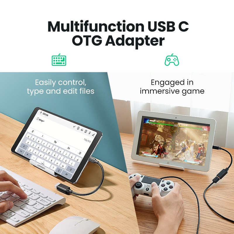 Ugreen USB C to USB Adapter OTG Cable USB Type C Male to USB 3.0 2.0 Female Cable Adapter for MacBook Pro Samsung Type-C Adapter