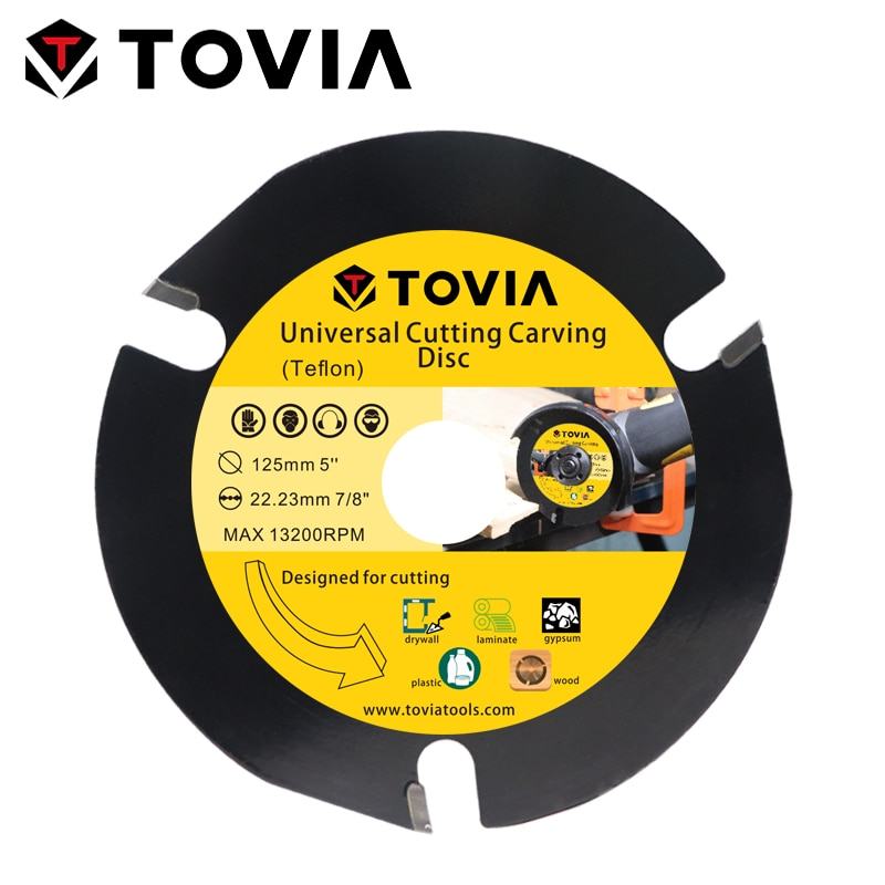 TOVIA 125mm Circular Saw Blade Cutting Wood Carbide Saw Blade 115mm Toothed Multitool Saw Disc For Angle Grinder Blackcutter tovia 125mm carbide saw blades wood cutting disk cutting wood saw disc multitool wood cutter angle grinder for wood