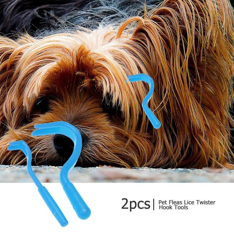 2 uds. Herramientas para quitar piojos, gancho de plástico Para Caballo, mascotas, gato, perro, peine, removedor de garrapatas portátil, herramientas, accesorios de peines, suministros para mascotas