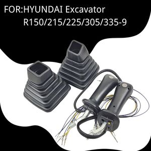 Control Joystick Handle for HYUNDAI Excavator R150/215/225/305/335-9  Rexroth Accessories Dustproof Cover Boot Spare Parts