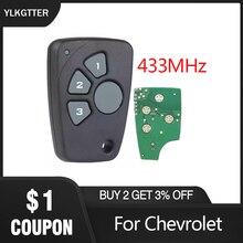 YLKGTTER clé de voiture à 4 boutons   Clé de télécommande pour Chevrolet Cruze Spark Onix Silverado Volt Camaro, entrée sans clé de 433MHz
