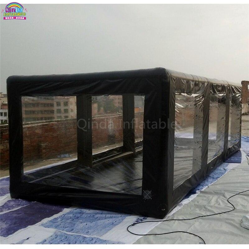 Tienda de lavado de autos inflable para patio trasero, cubierta de coche inflable para granizo