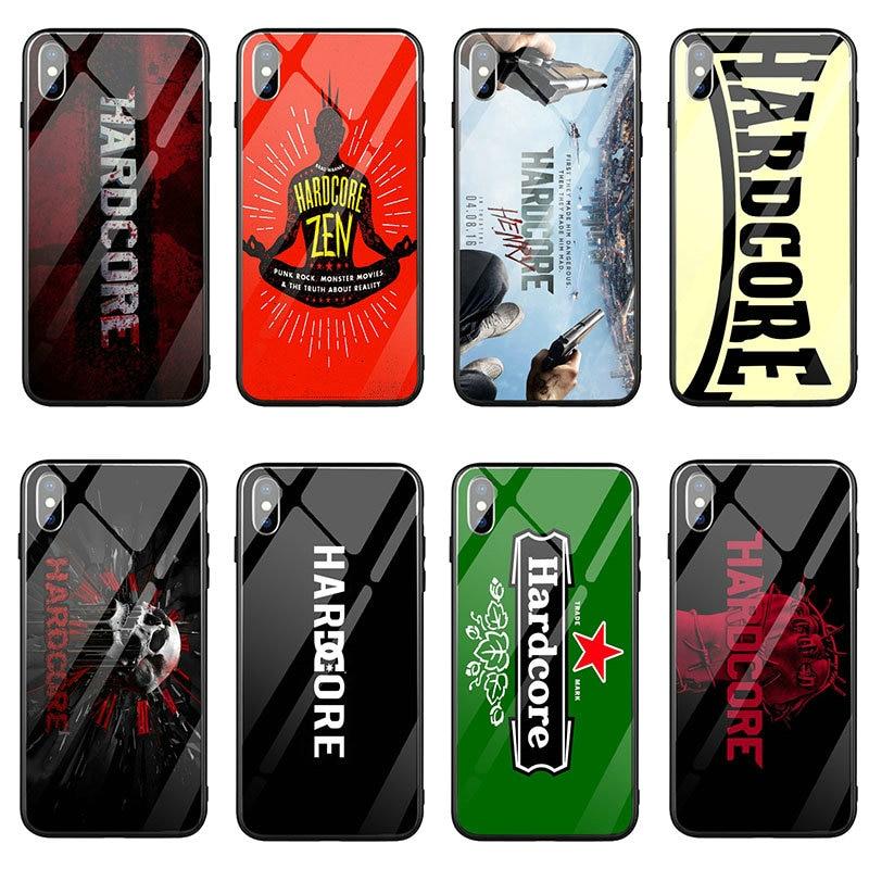 Чехол для телефона из закаленного стекла для iPhone X XR XS 11 Pro Max 8 Plus 6 5 5S SE 2020 6S Plus 7 Plus модный Hardcore Henry Logo