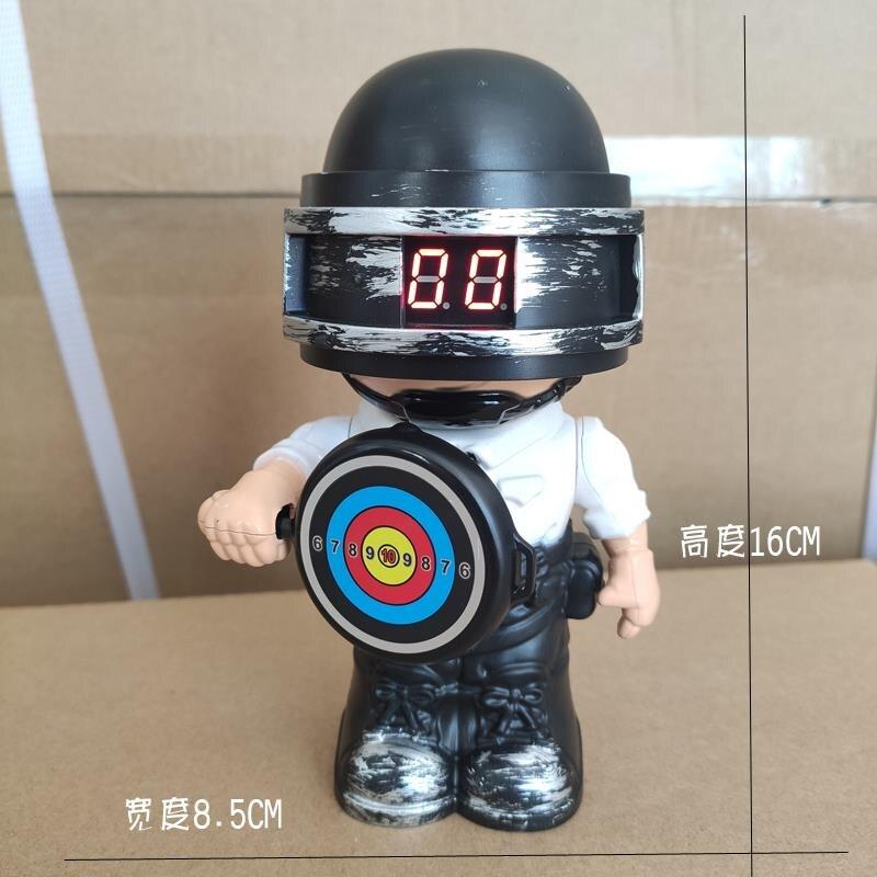 Zhorya Electronic Score Target Pubg Doll with Sound Water Gel Balls Blaster Shooting Target Toys for Boys Pistol Gun Accessories