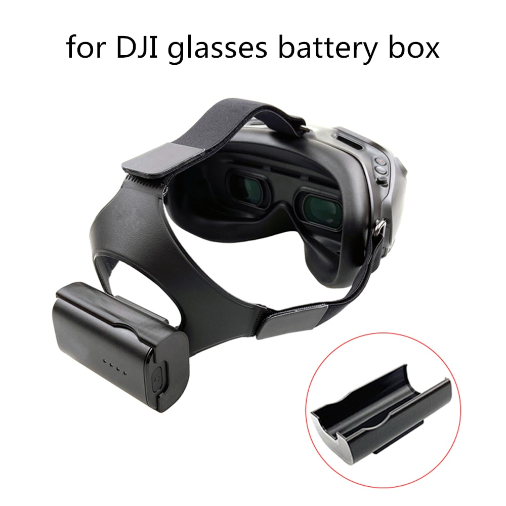 For DJI FPV Combo Drone HD Digital Image Transmission Glasses Battery Storage Case Back Buckle Flying Glasses Headband Accessory