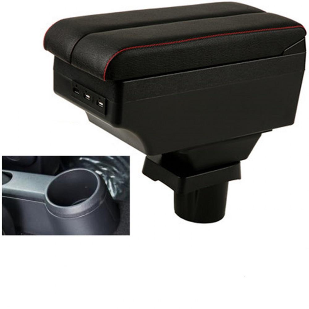 Para caja de apoyabrazos VW UP compartimento de almacenamiento interior apoyabrazos almacenamiento accesorios de estilo de coche parte con interfaz USB