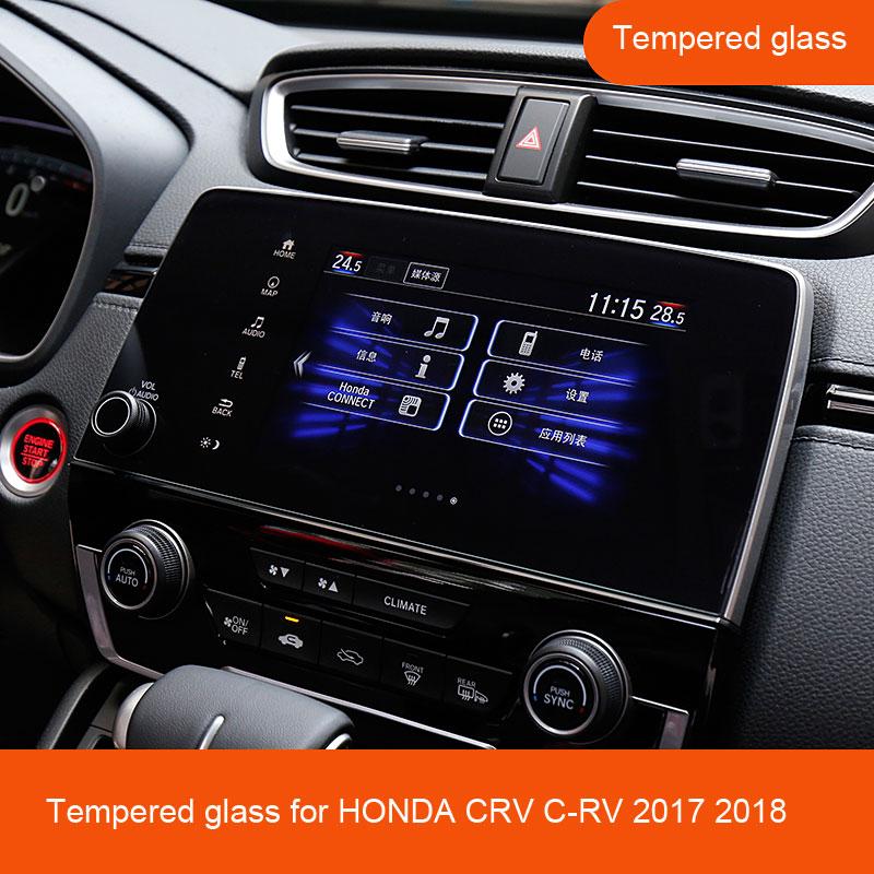 Для HONDA CRV C-RV 2017 2018 автомобильный Стайлинг навигация закаленное стекло Защита для экрана из стали портативное украшение автомобильные аксессуары