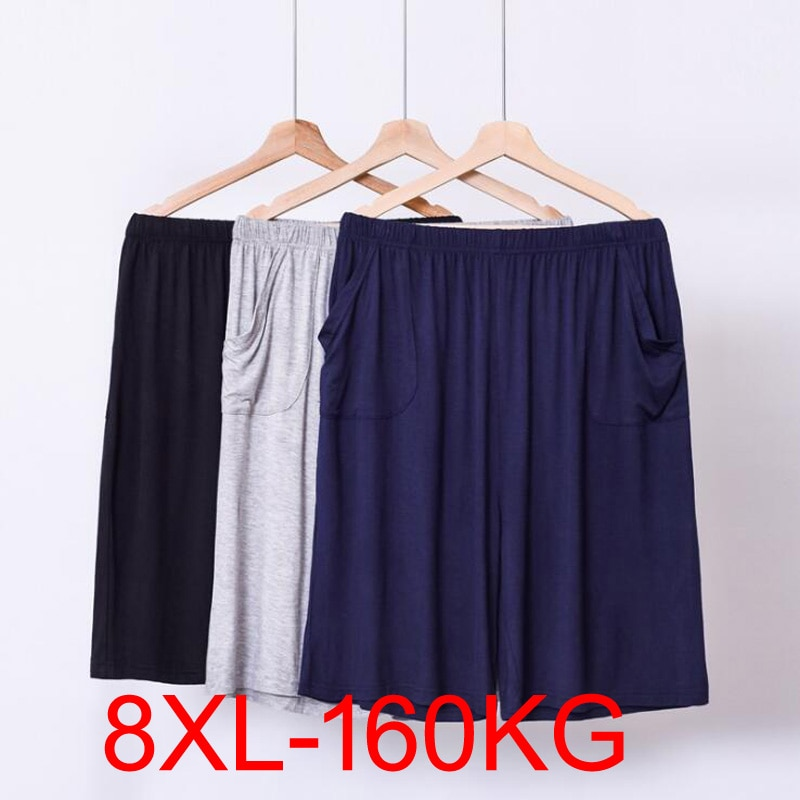 Summer Modal Pyjamas Mens Sleepwear Lounge Wear Casual Trousers Male Sleeping Short Loose Comfortabl