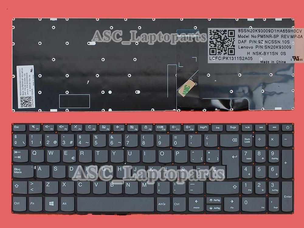New Spanish Teclado Keyboard for Lenovo ideapad 330-15IKB U/ 330-17IKB D / 330-17IKB Laptop , no BACKLIT , No Frame , Gray