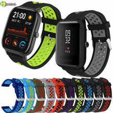 Силиконовые Ремешки для наручных часов для xiaomi Huami Amazfit BIP youth / BIP lite / GTS сменные спортивные часы ремешок браслет 20 мм 22 мм