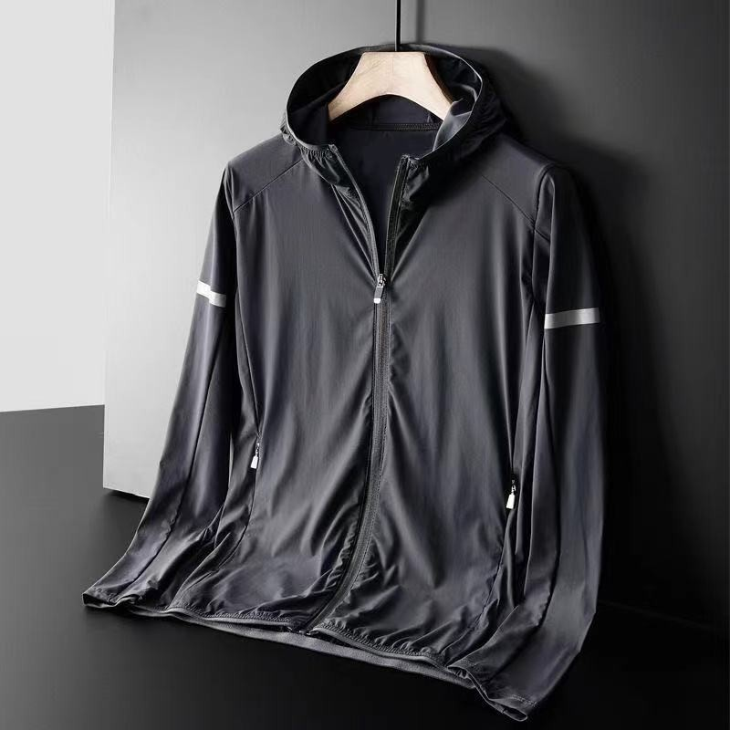 Новинка 2021, мужская спортивная куртка, Солнцезащитная одежда, простая однотонная дышащая мужская куртка, топы, мужская спортивная одежда дл...