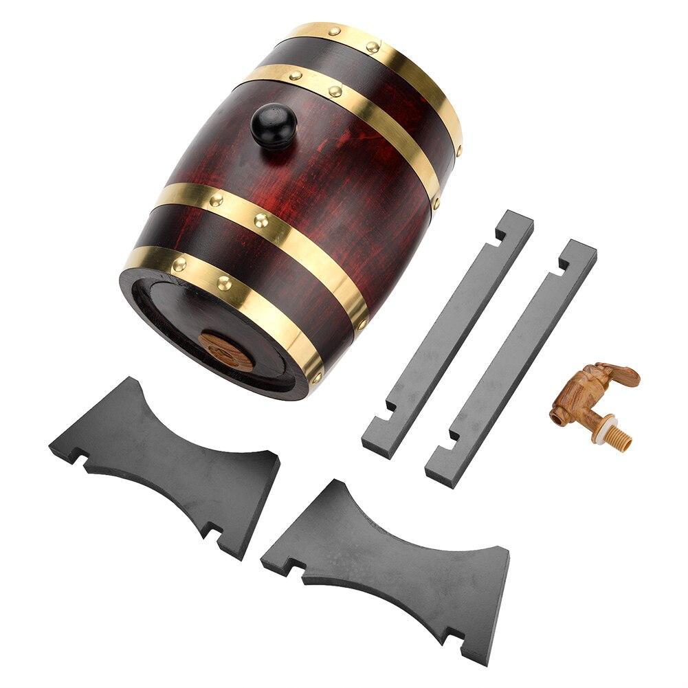 1.5l barril de madeira de carvalho barril de armazenamento barril de madeira de carvalho do vintage barril de vinho para cerveja uísque rum