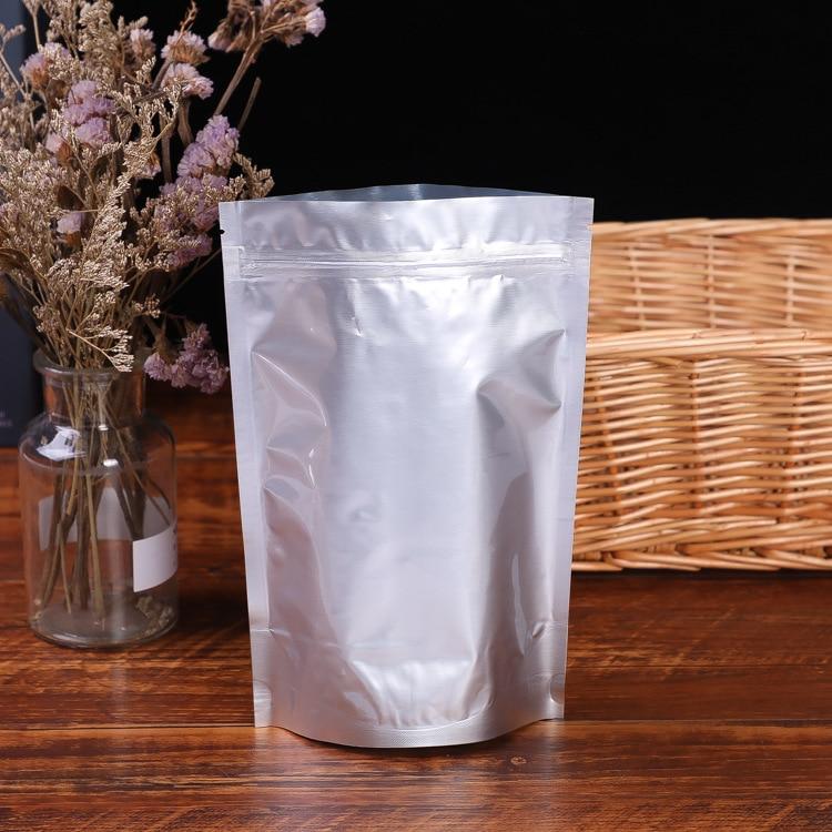 Aluminum Foil Zip Lock Bag Food Packaging Stand Up Mylar Pouch Heat Bag
