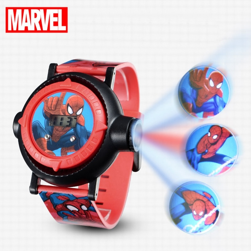 children watch spiderman sets cartoon kids part set watches wallet 3d cartoon child wristwatch and purse for boys girls students Spiderman Kids Watches Projection Cartoon Pattern Digital Child watch For Boys Girls LED Display Clock Relogio MARVEL Hero Time