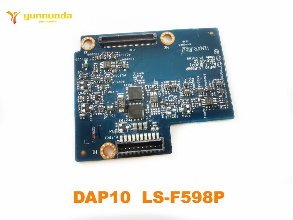 Original para dell precision 7530 7540 placa de conector da bateria dap10 LS-F598P testado bom frete grátis