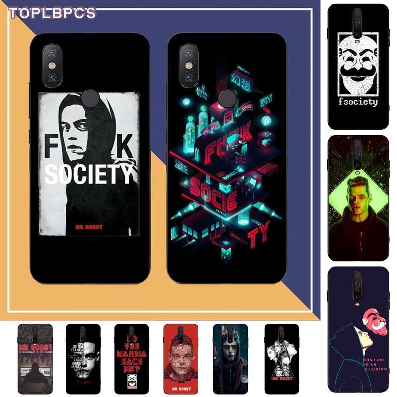 TOPLBPCS Mr Robot Coque funda del teléfono carcasa para RedMi Nota 9 4 5 5 5 6 6 7 5a 8 9 pro max 4X 5A 8T