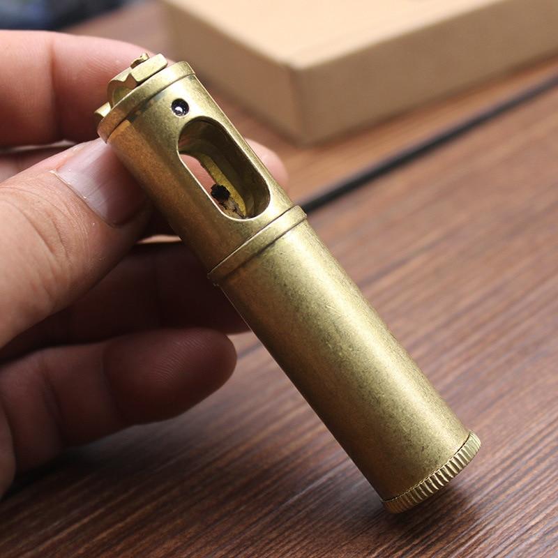 Brass Grinding Wheel Torch Lighter Retro Free Fire Windproof Flint Kerosene Oil Pipe Lighter Cigarette Gasoline Gadgets For Men enlarge
