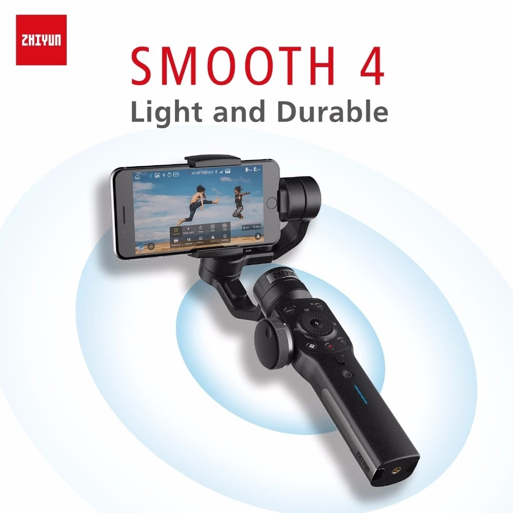 Review ZHIYUN Official Smooth 4 Phone Gimbals 3-Axis Handheld Stabilizers for Smartphone iPhone/HUAWEI/Samsung/Action Camera Gimbal