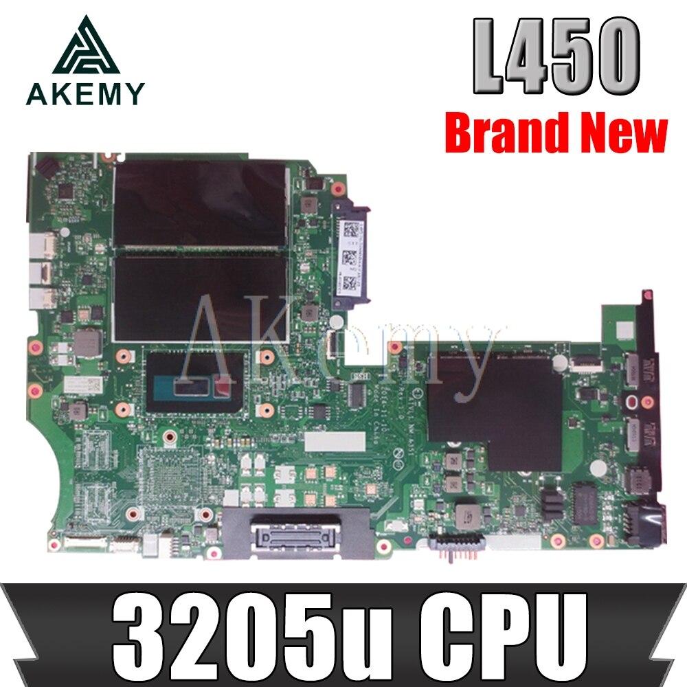 Laptop motherboard For Lenovo Thinkpad L450 NM-A351 00UP051 Mainboard Core SR215 Celeron 3205U DDR3 L450 mainboard motherboard