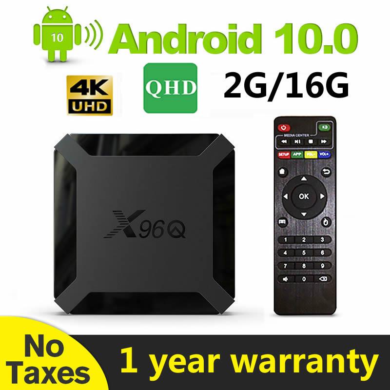 Leadcool-صندوق التلفزيون الذكي QHDTV X96Q Android 10.0 ، منتج معروض ، للتلفزيون الذكي ، فرنسا ، المملكة المتحدة ، بلجيكا ، ألمانيا ، المغرب ، ألجينيا