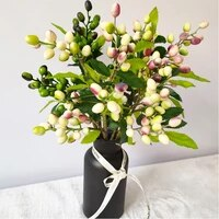 Branche de Fruit dolivier artificielle  baies  fleur artificielle de noel  decoration murale de maison  plante  fleurs artificielles