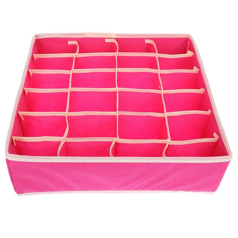 Foldable Home Storage Non-woven Scarfs Socks Bra Organizer Storage Box Drawer Closet Organizers Boxes For Underwear Bra