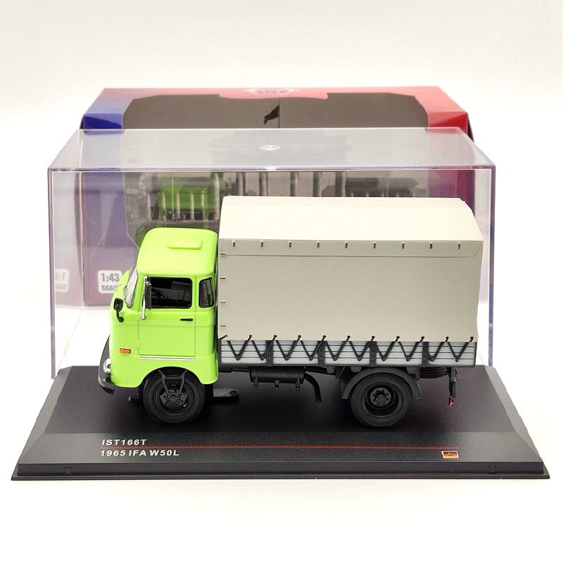 1:43 IST 1965 IFA W50L Green IST166T Diecast Models Limited Edition Collection Auto Toys Car Gift ixo altaya 1 43 scale ford mustang shelby gt 350h 1965 cars diecast toys models limited edition collection white