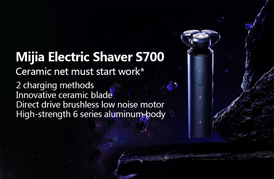 Xiaomi mijia barbeador elétrico s700 men cerâmica