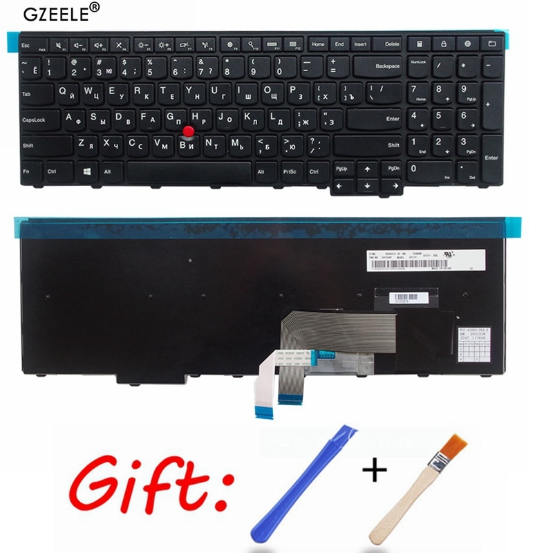 Teclado russa para Lenovo IBM ThinkPad T550 T540 T540p L540 Borda E531 E540 W541 W540 W550s 0C44592 0C44913 0C44952 RU