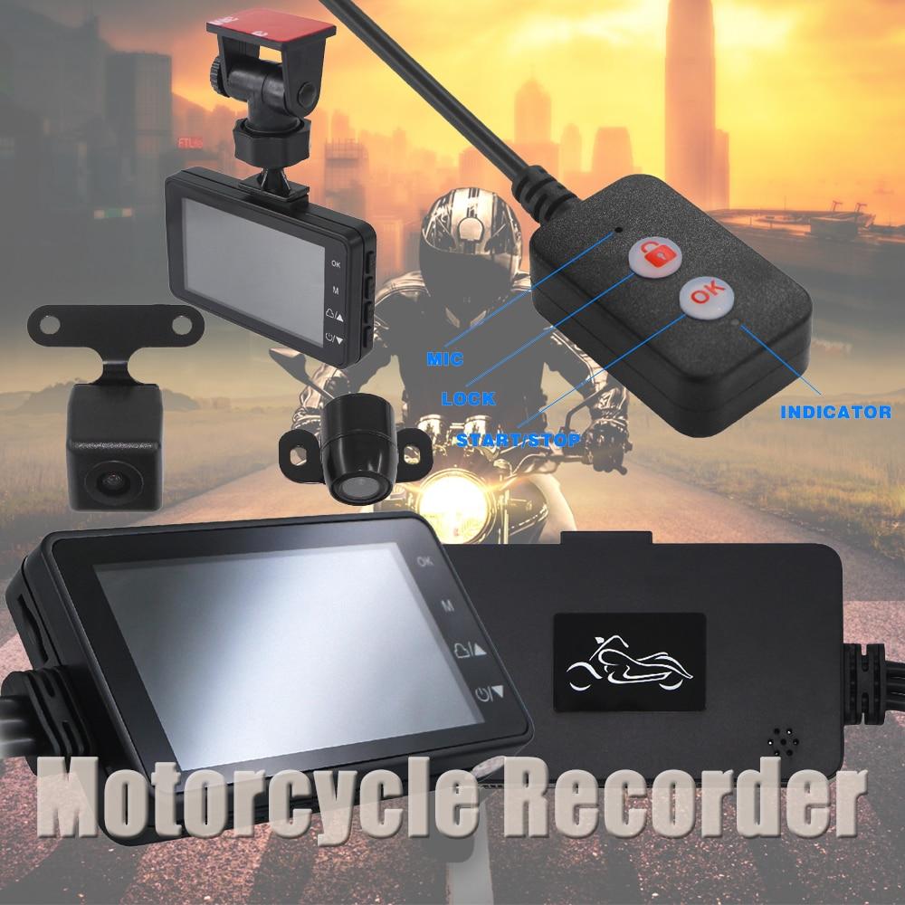 Motorcycle Camera DVR DashCam Front Rear Video Recorder Waterproof Dual Len 32G 1080P Motorbike Night Vision Electronic Dash Cam