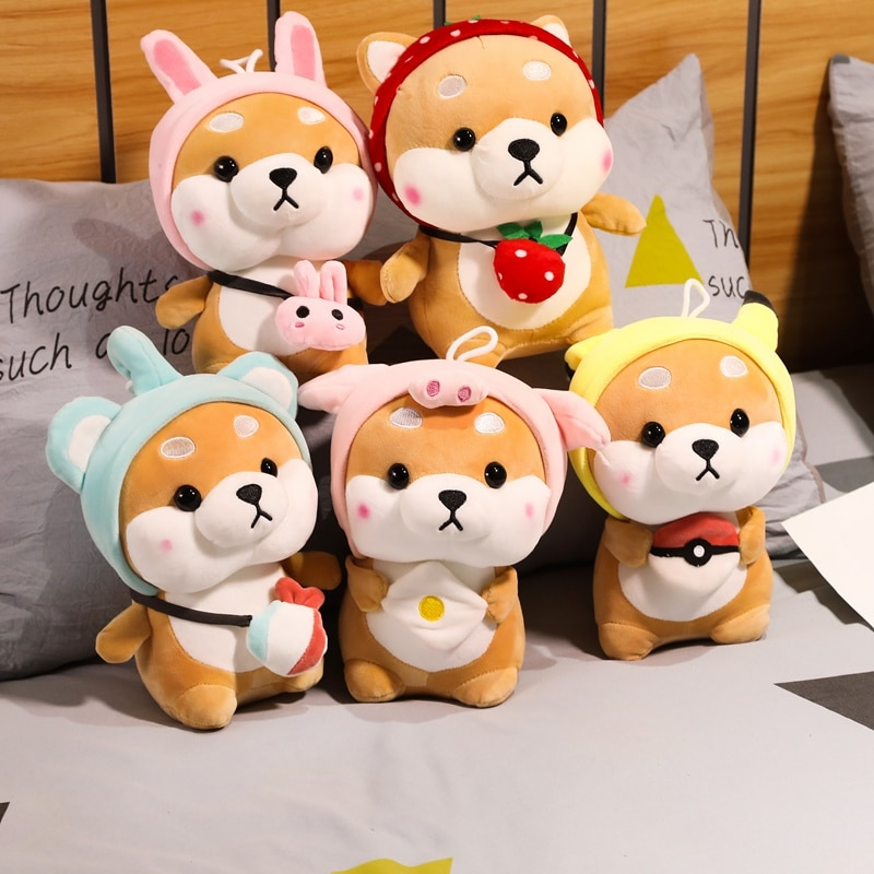 Peluche de perro Shiba inu Kawaii, almohada de Corgi suave, regalo de Navidad para niños, regalo de cumpleaños Kawaii