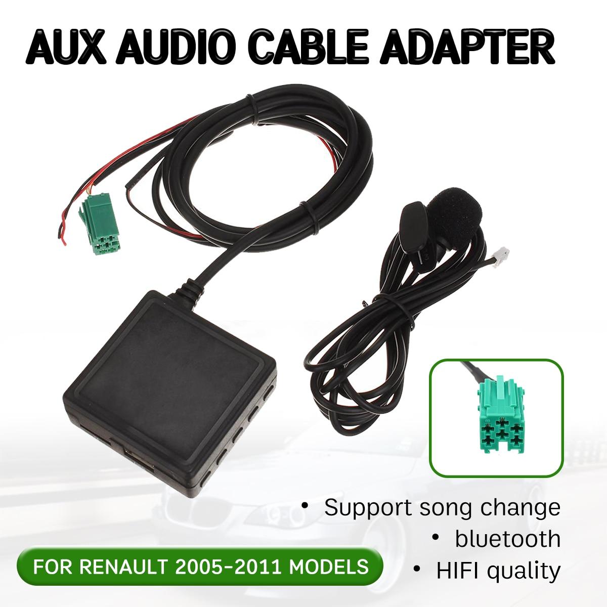 Cable receptor Aux bluetooth con USB, micrófono, adaptador auxiliar manos libres para Renault Clio,Kangoo,Megane 2005-2011