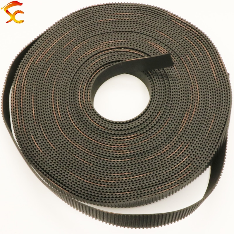High quality 10meters GT2 open timing belt width 9mm/10mm/12mm/15mm/20mm 2GT for 3D printer Free shipping