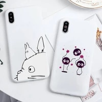 my neighbor totoro anime phone case candy color for iphone 6 7 8 11 12 s mini pro x xs xr max plus