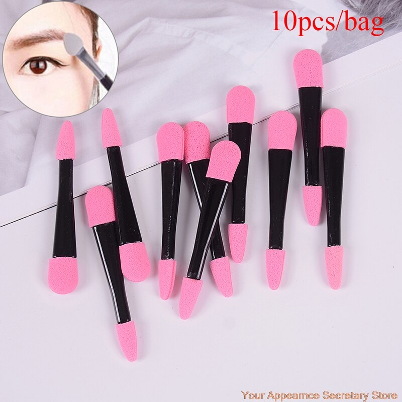 make up for ever double ended shader and smudger eye brush 204 10pcs Portable Eye Shadow Brushes Powder Brush Double Ended Eyeshadow Applicator Pro Sponge Eye Shadow Make Up Supplies