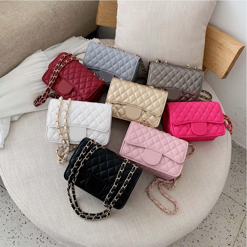 Bag female 2021 new fashion mini bag ins super fire shoulder messenger bag small fragrant rhombus chain bag