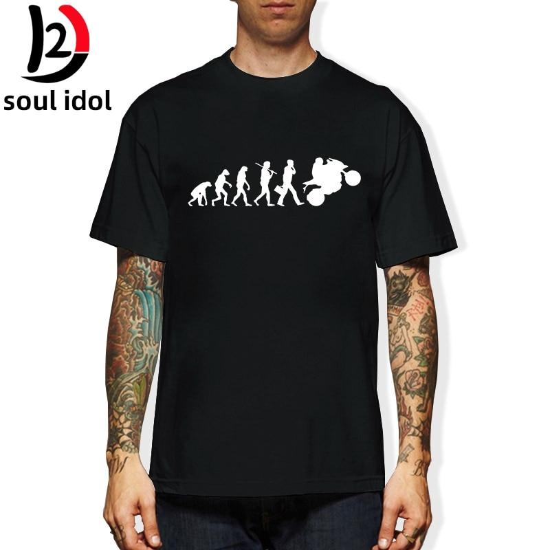 Camiseta de manga corta de verano Casual para hombre con cuello redondo y evolución de motocicleta para montar en moto D2 tamaño UE
