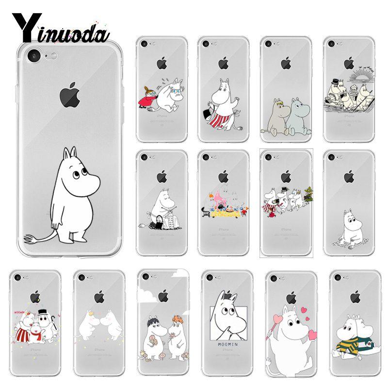 Yinuoda hipopótamo Moomin cubierta carcasa blanda para iPhone X XS MAX 6 6s 7 7plus 8 8 más 5 5S SE XR 10
