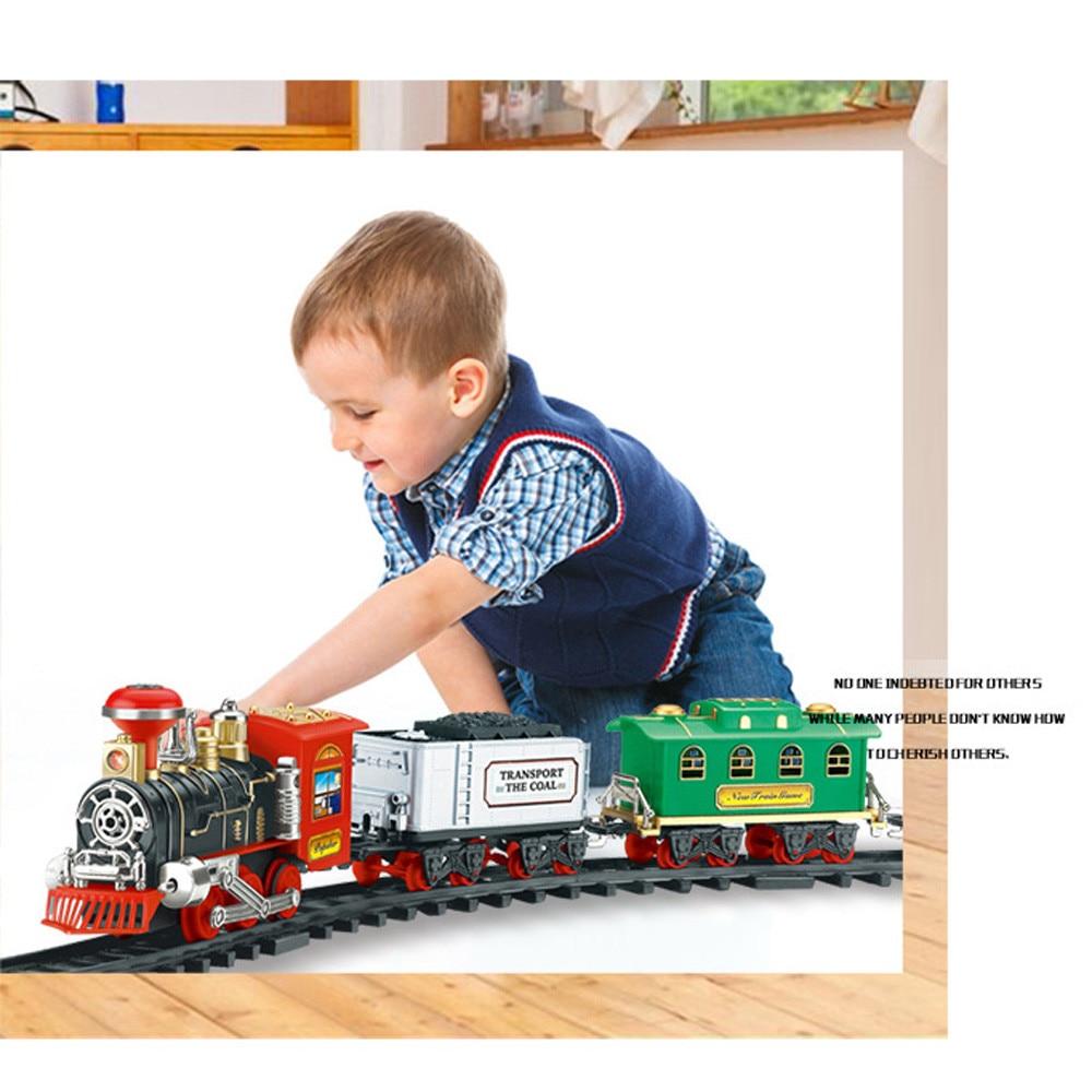 HIINST новый пульт дистанционного управления Транспортная Машина Электрический паровой дым RC поезд набор модель игрушка подарок игрушка железная дорога забавные развивающие игрушки
