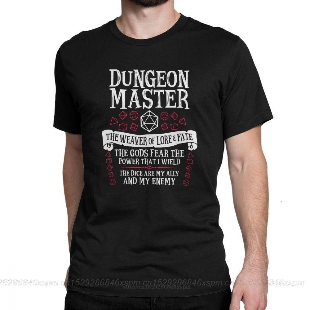 One yona Dungeon Master The Weaver Of Lore Fate футболки для мужчин Подземелья и Драконы DnD забавная хлопковая Футболка с круглым вырезом и графикой